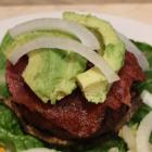 Paleo AIP Portobello Rosemary Garlic Burger Stacks
