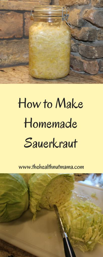How to make Homemade Sauerkraut - www.thehealthnutmama.com
