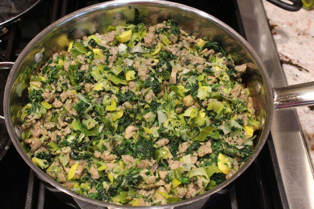 Delicious Easy Paleo AIP Sausage Breakfast Hash or Scramble. I love making this ahead so that those weekday mornings go so much easier.