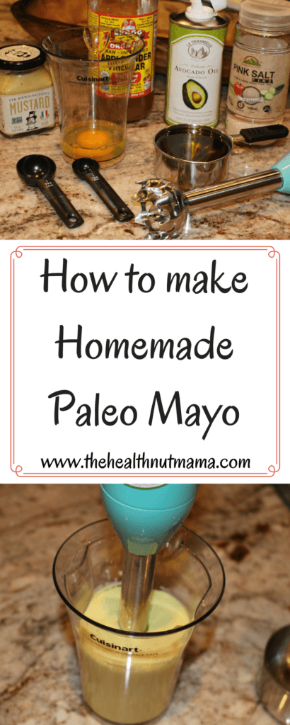 Did you know you can make homemade Mayo in less than 60 seconds? Tastes so much better than that nasty store bought junk! Paleo www.thehealthnutmama.com