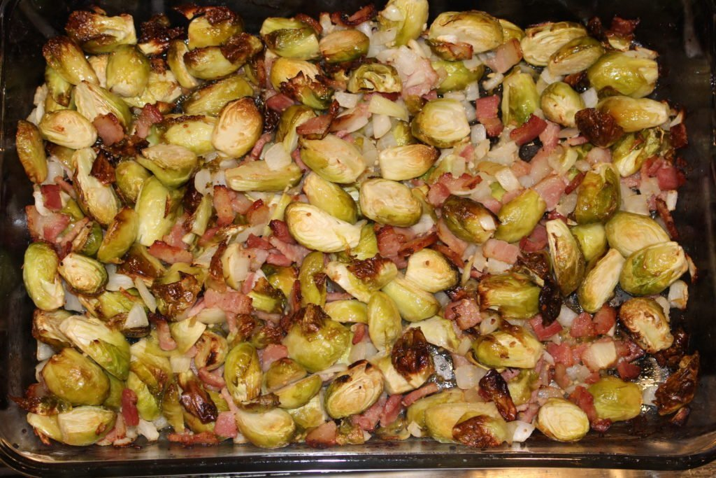 Roasted Brussel Sprouts with Bacon - AIP Paleo - www.thehealthnutmama.com