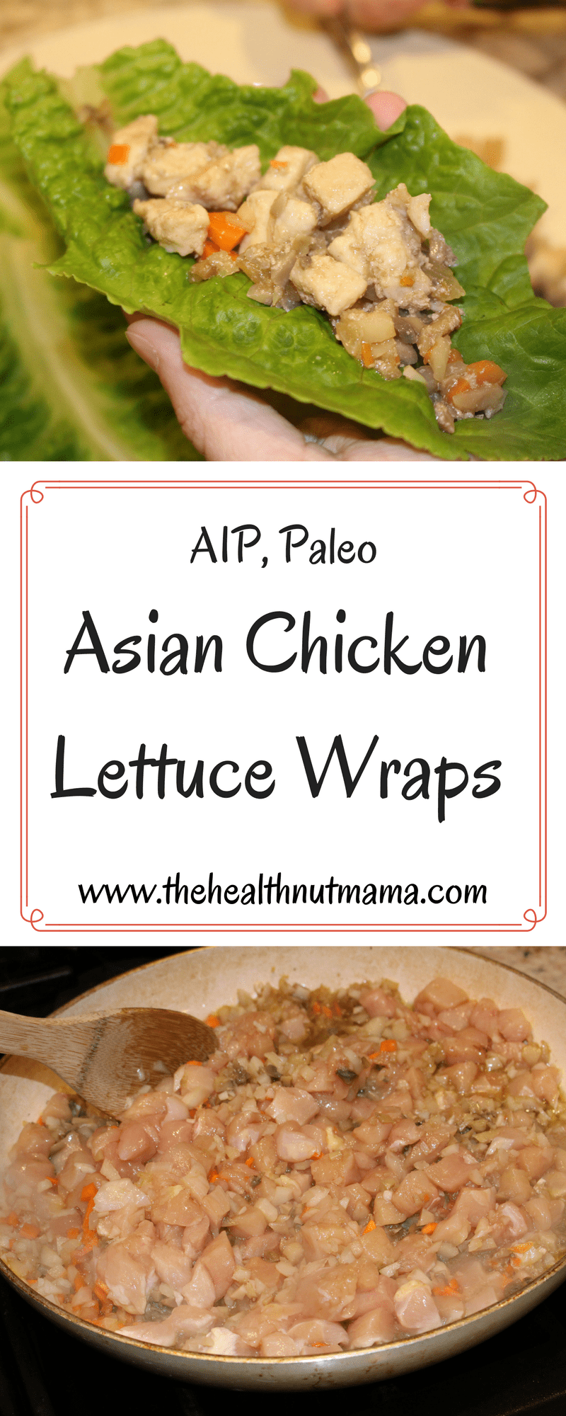 Paleo AIP Asian Chicken Lettuce Wraps - Quick, Easy & Delicious!- www.thehealthnutmama.com