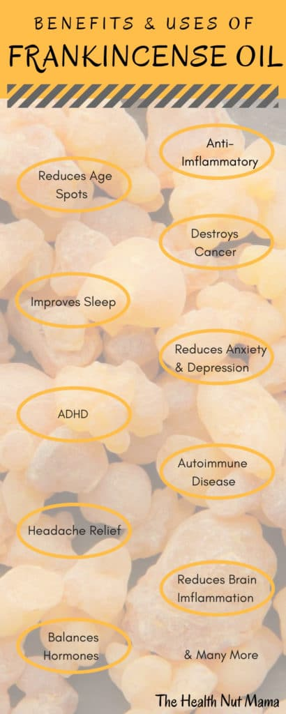 20 Amazing Uses of Frankincense Oil - One of the most powerful, natural anti-inflammatories on the planet. #naturalremedies, #health #essentialoil #frankincense #antiaging # www.thehealthnutmama.com