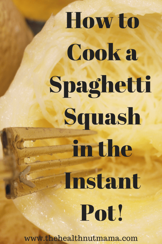By far the easiest & fastest way to cook a spaghetti squash! www.thehealthnutmama.com
