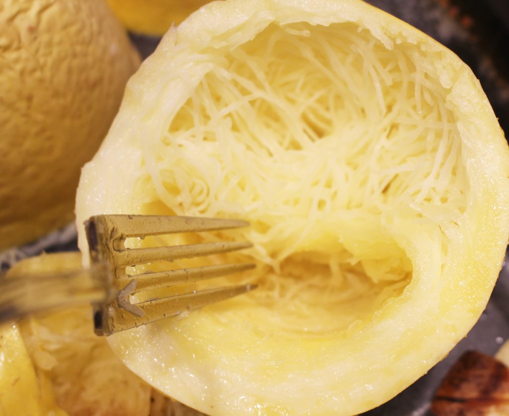 How to cook a Spaghetti Squash in the Instant Pot. The easiest quickest way! www.thehealthnutmama.com