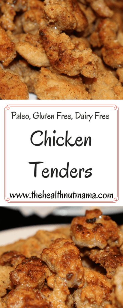 Paleo Chicken Tenders - So delicious & healthy! You'll never want to feed your kids the nasty fast food nuggets again! www.thehealthnutmama.com