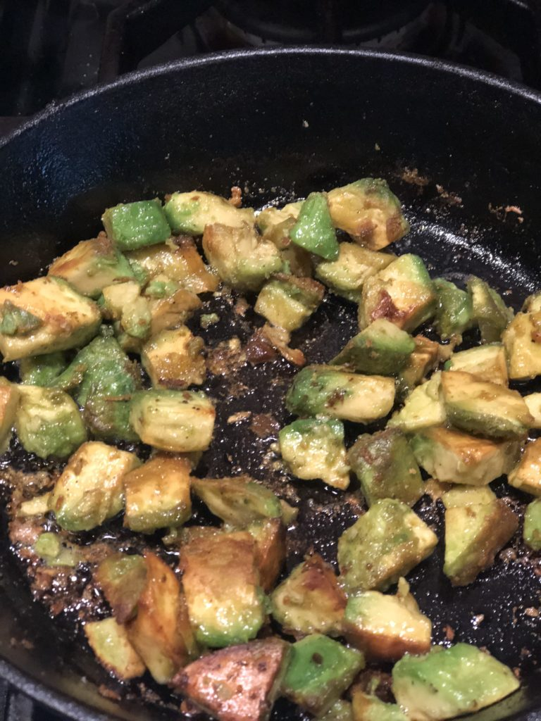 AIP Paleo Fried avocado is easy & delicious! Perfect as a side to breakfast or any meal. Whole 30, Vegan Friendly & Keto too! www.thehealthnutmama.com