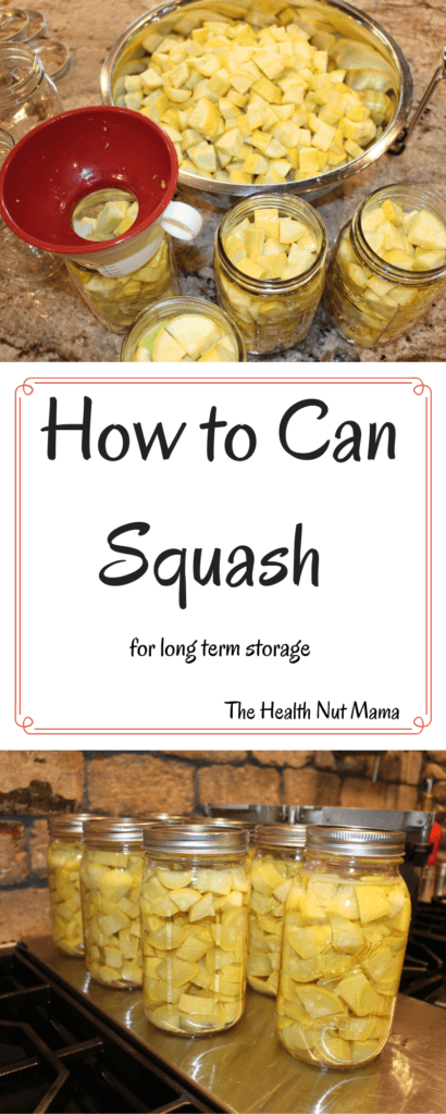 Here are step by step instructions on How to Can Squash for long term storage. A great way to preserve all the summer squash. #canning #preserving #squash #aip #paleo #whole30 #glutenfree #summersquash #pressurecanning #thehealthnutmama www.thehealthnutmama.com
