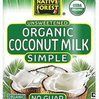 Native Forest Simple Organic Unsweetened Coconut Milk, 13.5 Ounce Cans (Pack of 12)