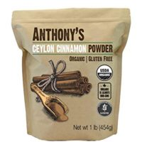 Anthony's Organic Ceylon Cinnamon Powder, 1lb, Ground, Gluten Free, Non GMO, Non Irradiated, Keto Friendly
