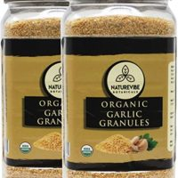 Naturevibe Botanicals Organic Garlic Granules, 2lbs (2 Pack of 1 lb each)
