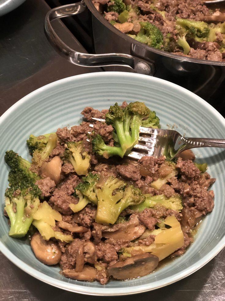 AIP Paleo Ground Beef and Broccoli