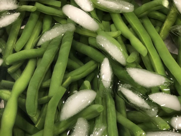 Learn How to Freeze Green Beans for Long Term Storage. So Easy & a great way to preserve them especially if you don't have a canner. #greenbeans #howtofreezegreenbeans #preservinggreenbeans #preservingfood #longtermstorage #aip #paleo #whole30 #keto #thehealthnutmama
