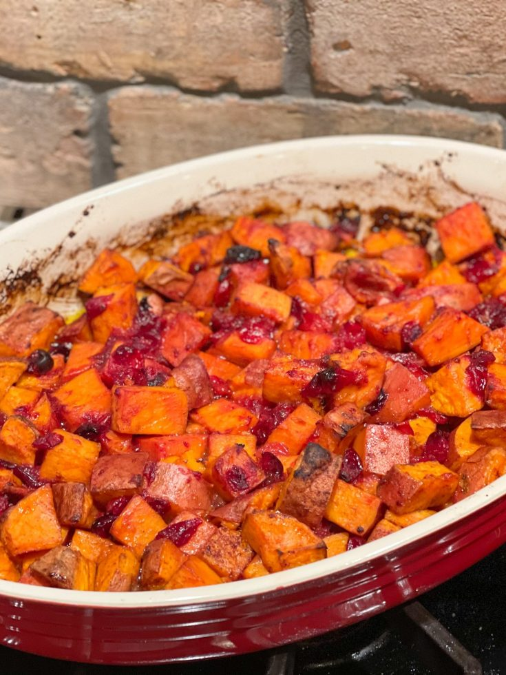 Roasted Cranberry Sweet Potatoes